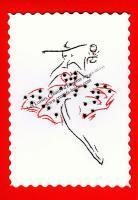 Broderie sur papier carte a broder le petite robe rouge a pois noirs loisirs creatifs d eugenie copie