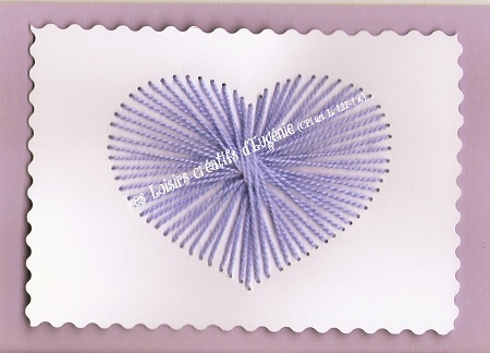 Carte broder broderie sur papier coeur enfant - Boutique de loisirs creatifs ...