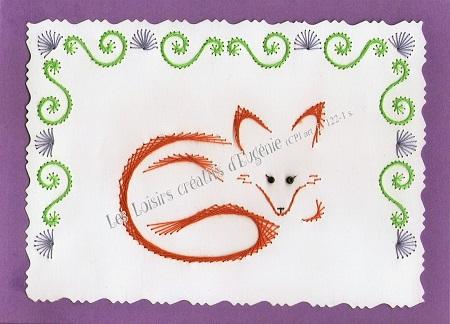 Carte broder broderie sur papier renard - Boutique des loisirs creatifs ...