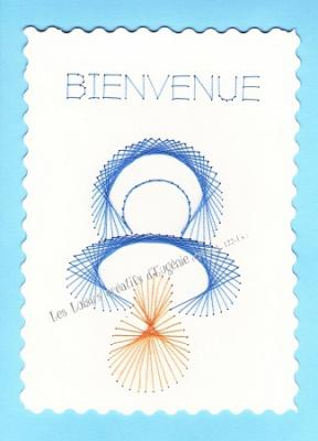 Broderie sur papier carte a broder loisirs creatifs tetine de bebe garcon