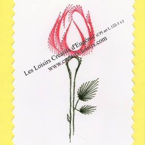 Broderie sur papier carte a broder rose jaune loisirs creatifs d eugenie
