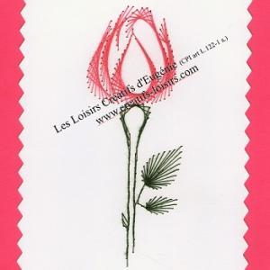 Broderie sur papier carte a broder rose rose loisirs creatifs d eugenie