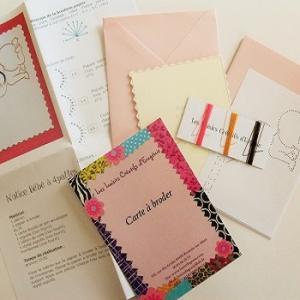Broderie sur papier loisirs creatifs bb a 4 pattes fille