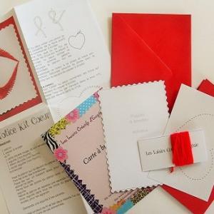 Broderie sur papier loisirs creatifs cadre coeur rouge enfant