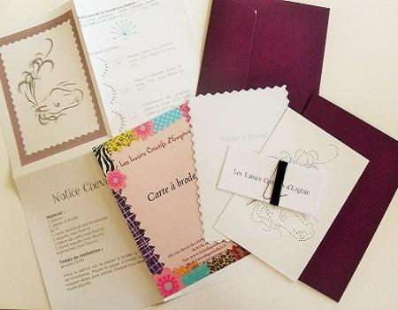 Broderie sur papier loisirs creatifs cheval prune