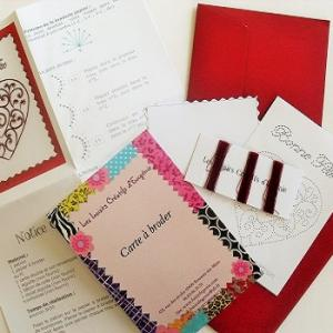 Broderie sur papier loisirs creatifs coeur fer forge 1