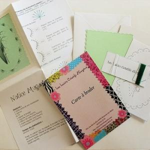 Broderie sur papier loisirs creatifs muguet