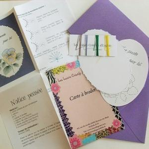 Broderie sur papier loisirs creatifs pensee