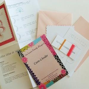 Broderie sur papier loisirs creatifs tetine fille