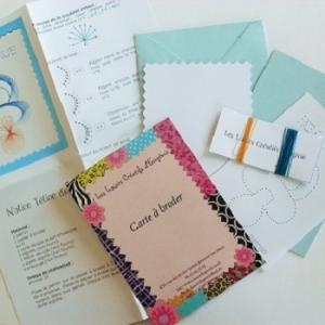 Broderie sur papier loisirs creatifs tetine garcon