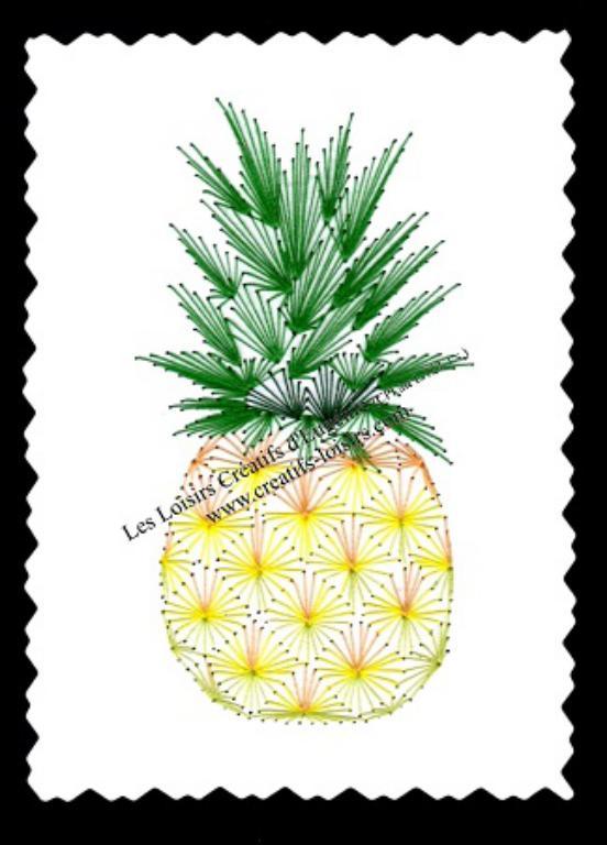 Carte a broder broderie sur papier ananas loisir creatif eugenie 2