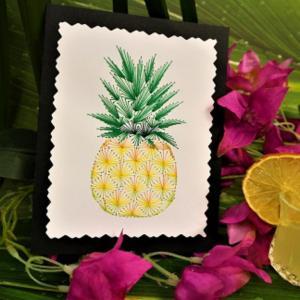 Carte a broder broderie sur papier ananas loisir creatif eugenie 3