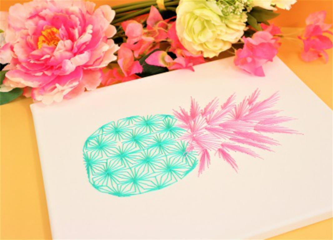 Carte a broder broderie sur papier ananas loisir creatif eugenie 4