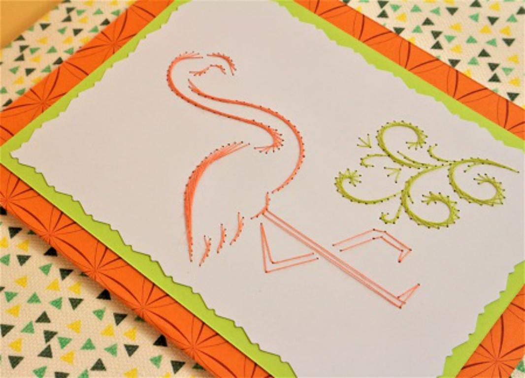 Carte a broder broderie sur papier falamand rose loisirs creatifs eugenie 02