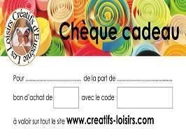 Cheque cadeau quilling broderie papier loisir creatif eugenie boutique internet