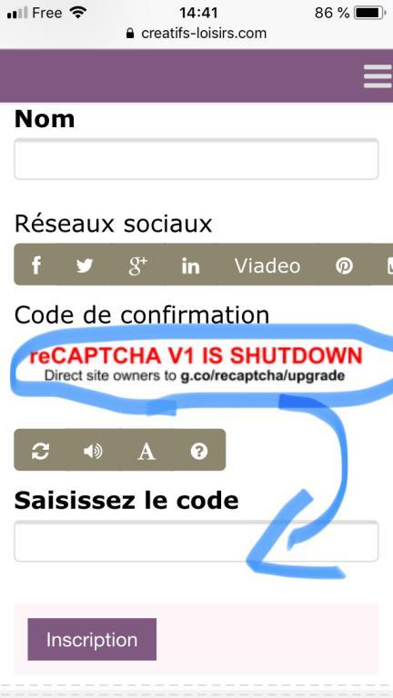 Code de confirmation 1