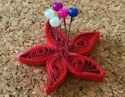 Coller les spirale de papier epingle liege bande quiling paperole