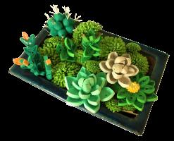 Composition fleur vegetal succulante plante grasse papier quilling vert paperolle diy loisir creatif fait main