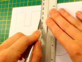 Decoupe scalpel cutter lame couteau lettre tableau prenom quilling h