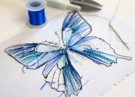 Envers papillon carte a broder broderie sur papier noeud loisir creatif eugenie