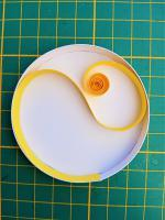 Etape ralisation tuto modele facile soleil quilling paperolles loisir creatif eugenie bande papier jaune