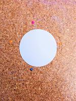 Fixer le cercle de papier liege epingles quilling soleil loisir creatif eugenie