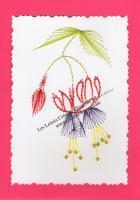 Fleur fuchsia broderie papier loisir creatif eugenie