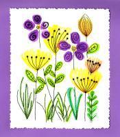 Fleurs des champs broderie papier loisir creatif eugenie patron modele herbe vegetation plante