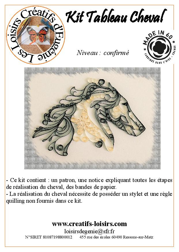 Flyer de presentation quilling cheval page 001