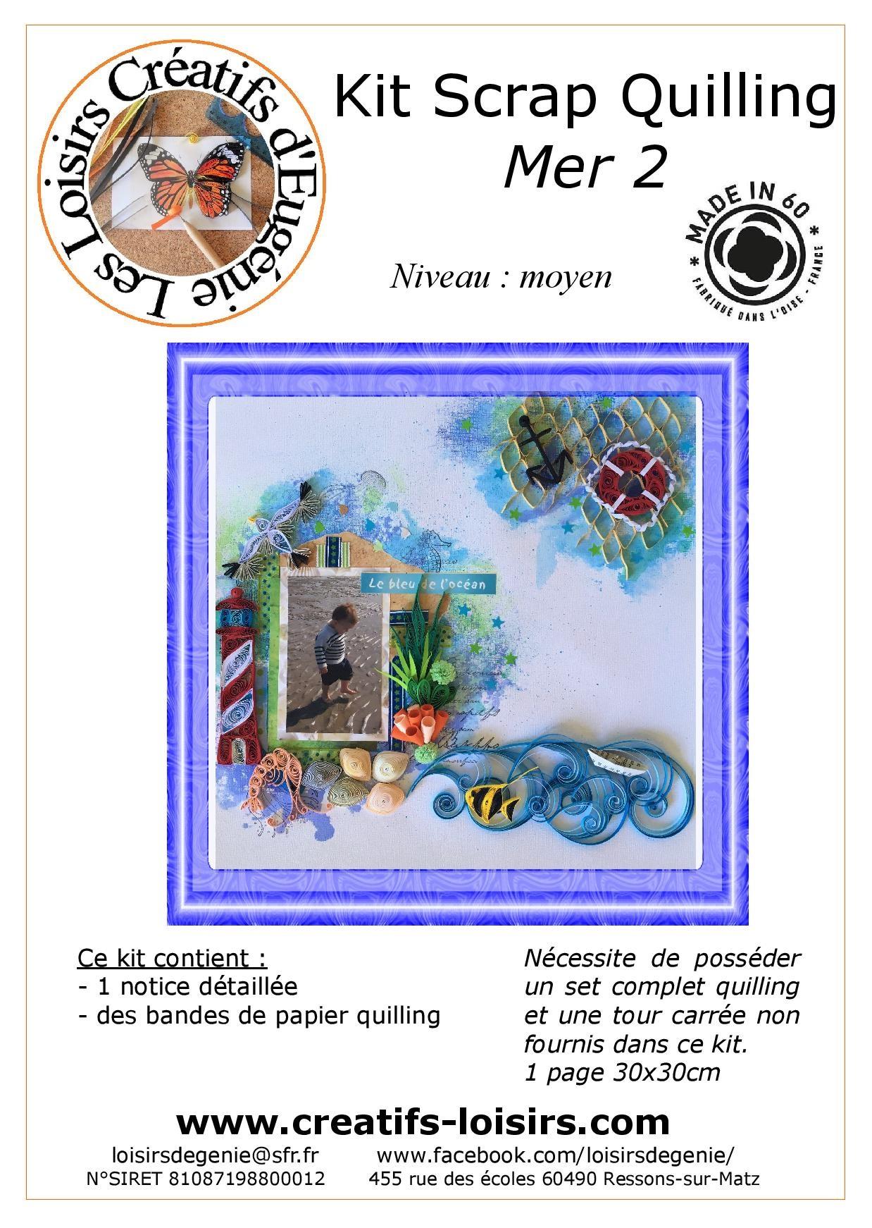Flyer kit scrapbooking quilling mer loisir creatif