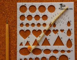 Gabarit coeur quilling loisirs creatifs enrouler 1 cote 1