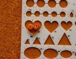 Gabarit coeur quilling loisirs creatifs mettre 1 epingle 1