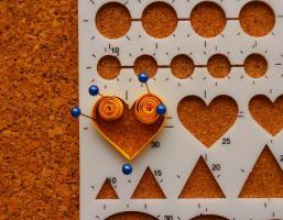 Gabarit coeur quilling loisirs creatifs mettre 5 epingles 1