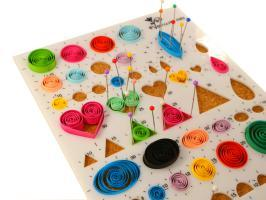 Gabarit multiformes quilling papier roule quilting paperolles rond triangle carre coeur ovale 1