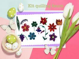 Kit fleur quilling modele facile loisir creatif