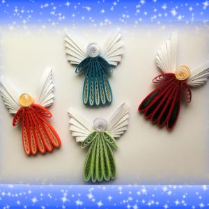 Kit quilling anges peigne les loisir creatif eugenie