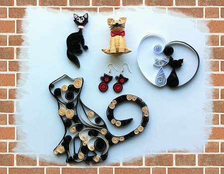 Kit quilling chat 1 evolutif loisir creatif eugenie