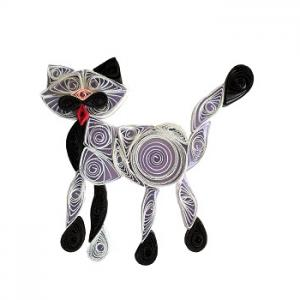 Kit quilling chat 2 chat blanc loisir creatif eugenie