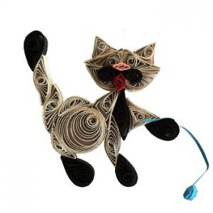 Kit quilling chat 2 chat gris loisir creatif eugenie