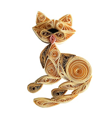 Kit quilling chat 2 chat ivoire loisir creatif eugenie
