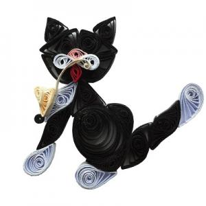 Kit quilling chat 2 chat noir loisir creatif eugenie