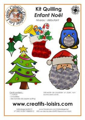 Kit quilling enfant Noël