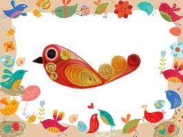 Kit quilling oiseau loisirs creatifs modele facile papier roule