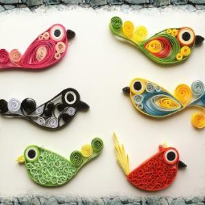 Kit quilling oiseau oiseaux loisir creatif eugenie