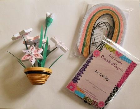 Kit quilling pot de fleurs loisirs creatifs