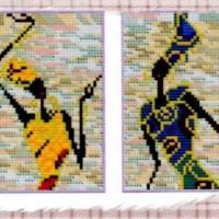 Loisirs creatif kit point compte croix broderie afrique femme 01