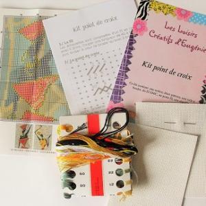 Loisirs creatif kit point compte croix broderie afrique femme 02