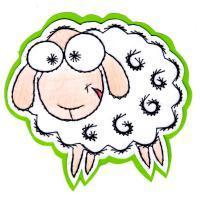 Mouton blanc animal laine broderie papier loisir creatif eugenie