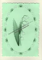 Patron broderie sur papier carte à broder