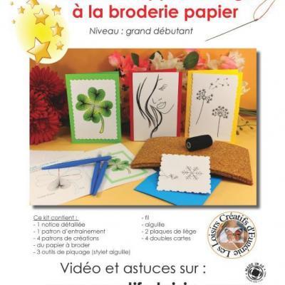 Kit complet d'apprentissage de la broderie sur papier